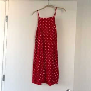 ASOS red mini with scoop back
